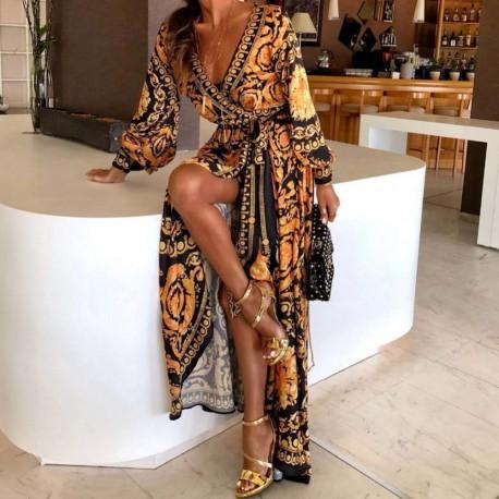Vestiti Eleganti Versace.Vestito Lungo Incrocio